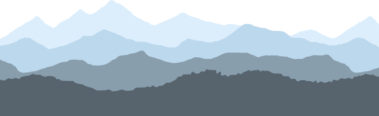 Mountain background footer