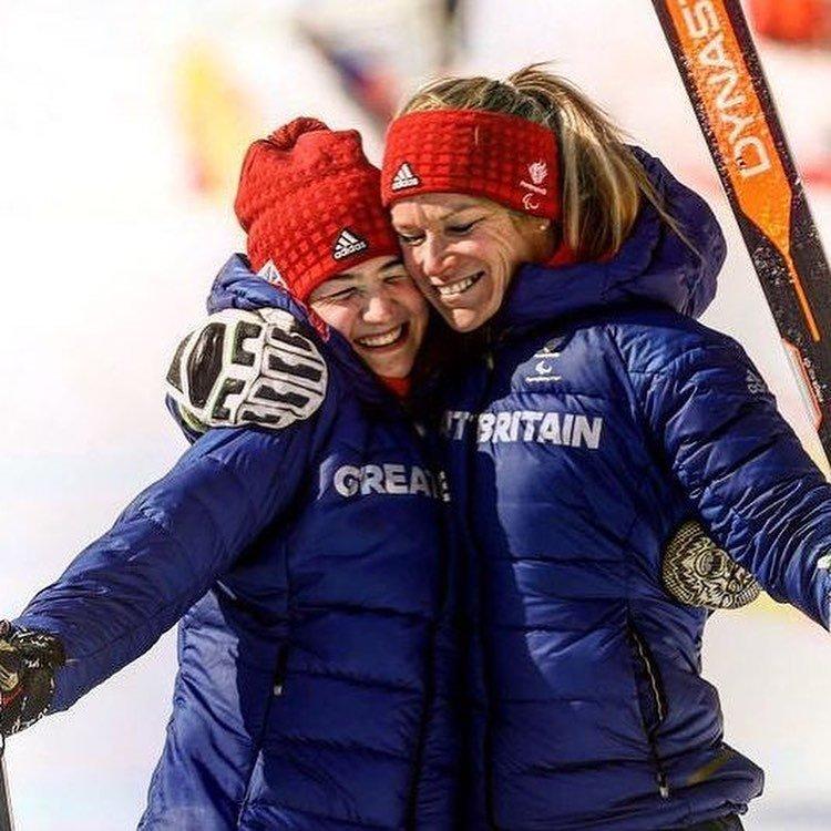Elite Skiers Celebrating
